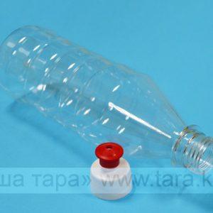 Бутылка ПЭТ 500 мл ребристая Push-Pull